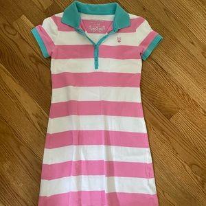 Girls collared striped dress